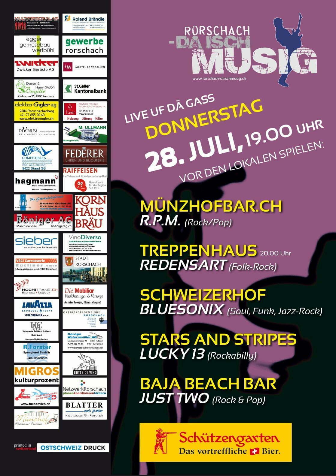 Rorschach-da isch Musig Juli 2016 Plakat