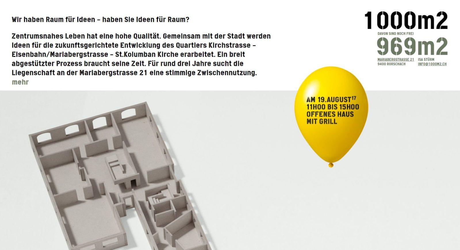 Gute Ideen für 1000 m2 gesucht – Rorschacher Echo